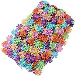 Supvox 15 yardas Costura del ajuste del cordón Recortes de la flor Adornos de flores Adornos de encaje Color Margarita para el arte de costura Arte