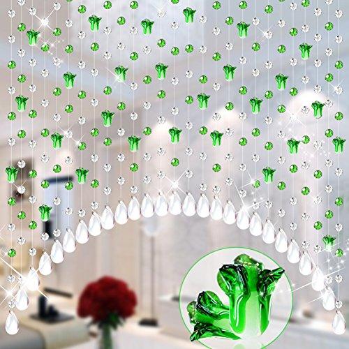 Kristallperle vorhang, Wohnzimmer schlafzimmer wc fengshui tür vorhang zu partitionieren Chinakohl Vestibül dekoration halbfertig hängenden vorhang-F 60 Wurzeln