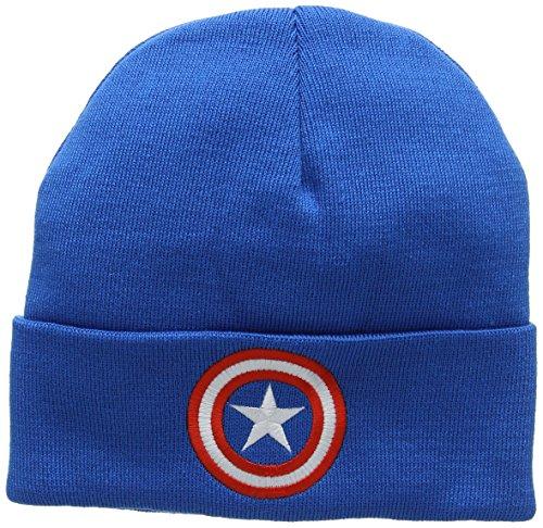 (Marvel Unisex Strickmütze Captain America-Shield, (Azure Blue), One Size)