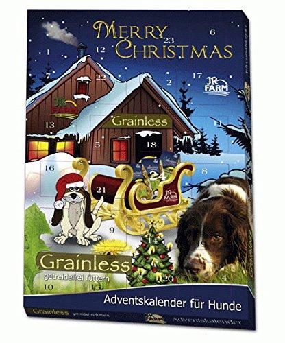 JR Farm Hunde Adventskalender, 1er Pack (1 x 140 g), Getreidefrei