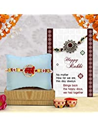 TIED RIBBONS Rakhi for Bhai with Rakshabandhan Special Card