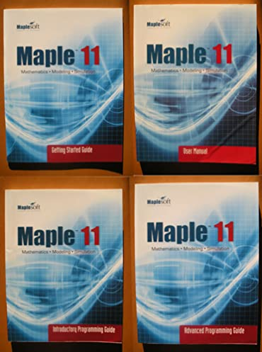 maple introductory programming guide 11 amazon co uk k geddes rh amazon co uk Maple Programming Tutorial R Programming