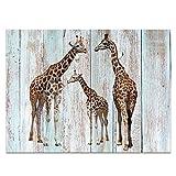 YISUMEI Hem Gewichte Vorhang Duschvorhang Anti-Schimmel Duschvorhangringe Wasserabweisender 120x180 cm Giraffenfamilie