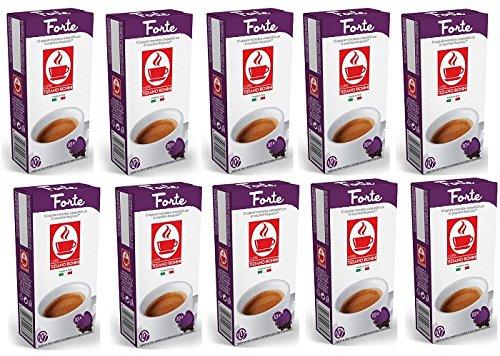 NESPRESSO Bonini Forte Kaffee- 200 Stück (20 Pack à 10 Kapseln) Kompatible Kaffeekapseln von Caffè Bonini Italien.