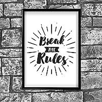 Motivational Inspirierende Positiven Gedanken Zitat Rules Poster Print, 177
