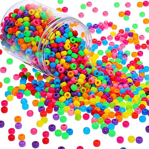 Abalorios de Poni con Botes de Plástico Transparentes, Cuentas de Pulsera de...
