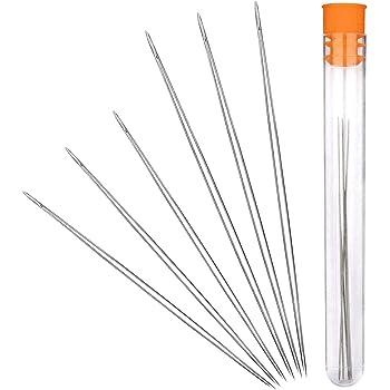 Souarts Assorted Easy Large Eye Beading Needle Pack of 6pcs