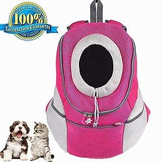 Aoxsen Pet Carrier Backpack Bag Pet Dog Cat Puppy Portable Airline Travel Approved Carrier Breathable Mesh Adjustable Front Bag Head Out Design Double Shoulder Padded Bike Hiking Outdoor