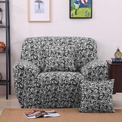 Ssdlrsf bellissimo fiore e farfalla stampa avvolgente avvolgente copridivano completo divano elastico copriletto asciugamano imbottito (145-185cm), colore 2, monoposto