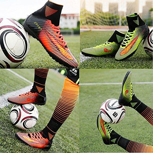 Calcio Scarpe da uomo Teenager dedicato scarpe da calcio DI VITIKE arancia1