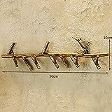 EETYRSD - Gancio appendiabiti da parete, in ferro battuto, dimensioni 56 x 10 cm