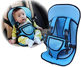 Kurtzy Baby Car Safety Cushion Seat with Adjustable Safety Lock Buckles Protective Belt for Infant Toddler Kids