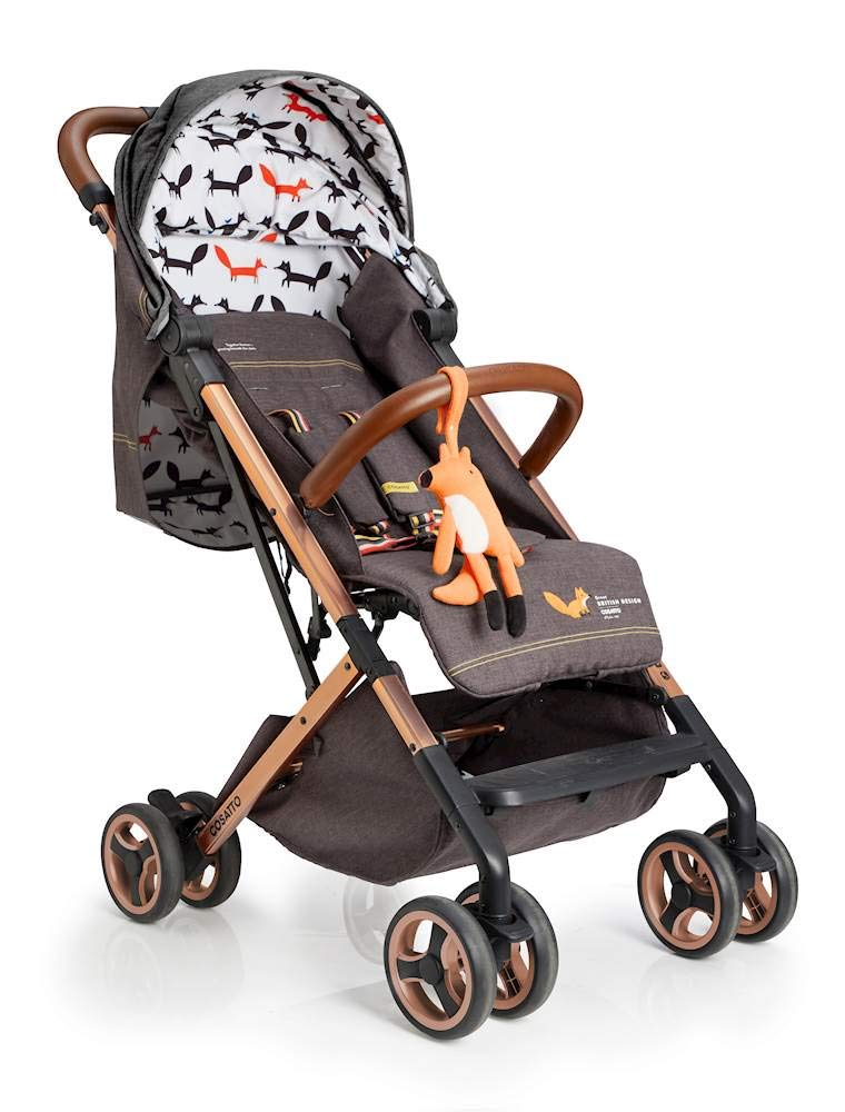 Cosatto Woosh XL Pushchair, Suitable from Birth to 25 kg, Mister Fox Cosatto Compact from-birth pushchair. carries up to 25kg child, so you can use it for longer. Hands full? it's lightweight with one-hand fold into compact bundle. easy to store. It can even carry dock 0+ car seat (sold sep) just pop onto the adaptors (sold sep). 1