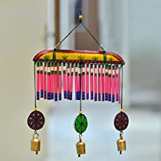 ExclusiveLane Wooden Multicoloured Handpainted & Handmade Decorative Hanging -Wind Chimes Hanging Decorative Item Home Décor Pieces