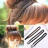 Bandeau de natte Bandeau cheveux artificiels avec ruban élastique accessoires pour cheveux-3 pièces