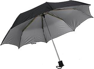 xfinity Polyester Manual 3-Fold Large Lightweight Canopy Silver Coating Black Umbrella