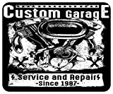 Mousepad bedruckt mit Custom Motorcycle Garage