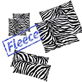 2x Pack ZEBRA Microfaser Thermo Fleece Kissenbezug Kissenhülle 80x80 40x80 40x40, Größe:2x 40x40 cm Kissen