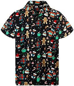 Funky Camisa Hawaiana Navidad, Christmas