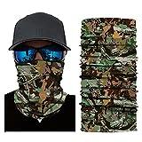 Gusspower Camouflage Multifunktionstuch Bandana Halstuch Kopftuch: Face Shield aus Mikrofaser - Material ist flexibel und atmungsaktiv - Maske fürs Motorrad-, Fahrrad- und Skifahren (A)