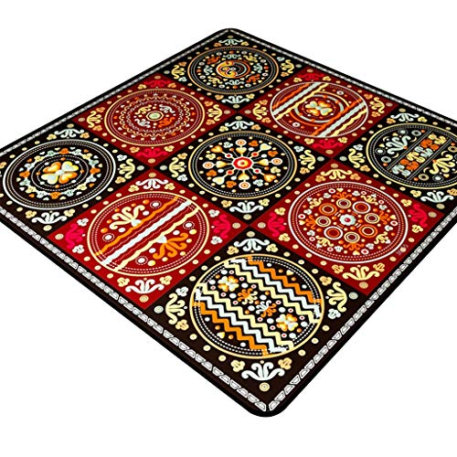 Gt tappeto area tappeto soggiorno tavolo da tè tappetino tappetino etnico tappeti etnici tappeti stile europeo tappetino antiscivolo (color : 100 * 100cm)