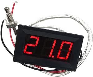 30 800 Grad Celsius Thermometer Digital Led Auto Temperatur Messinstrument Monitor Anzeige Tester Temp Panel Meter Spur 12v 2v Angetrieben Temperaturgenauigkeit 0 3 Grad Celsius Rot Baumarkt