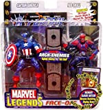 Marvel Legends Face Off Series 1 Action Figure Twin Pack - Captain America vs. Red Skull