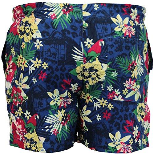... Herren Schwimm Shorts Brave Soul Blumenmuster Ananas Hawaii Strand-aufdruck  Sommer Neu Marineblau - TROPICAL17 ...