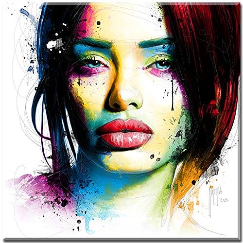 Aurelie , Fertigbild von Patrice Murciano , Grösse 30 cm x 30 cm , Kunstdruck auf Holzblockrahmen (MDF) kaschiert , Seiten farblich passend zum Motiv , Wandbild , Wohnen und Bilder , französische Pop-Art , French Pop , Cyber , Mode , Kult , Fertigbild direkt zum Aufhängen