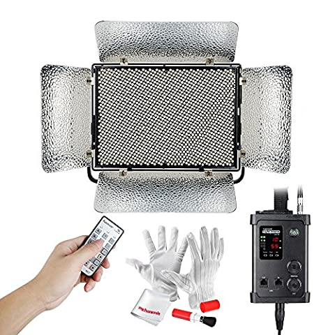 Aputure Light Storm LS 1c CRI95+ 1536 SMD LED Video Light Panel 3200K to 5500K is Adjustable by DMX Console, Remote Control and Wheel on The Controller Box with A-mount