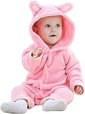 MICHLEY Baby Jumpsuit Bär Stil Overall Strampler Kleidung