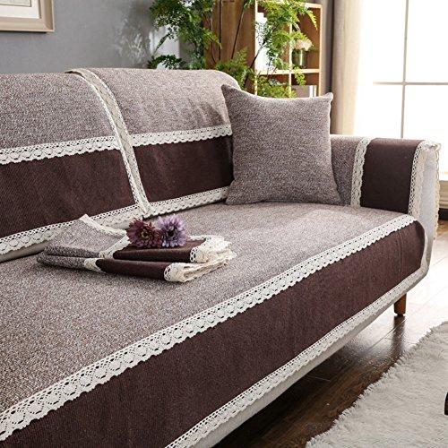 TY&WJ Baumwolle und leinen Sofabezug Aus Stoff Anti-rutsch Vier Jahreszeiten Couch-abdeckungen Für Wohnzimmer Outdoor Sofa Handtuch-D 70x180cm(28x71inch) -