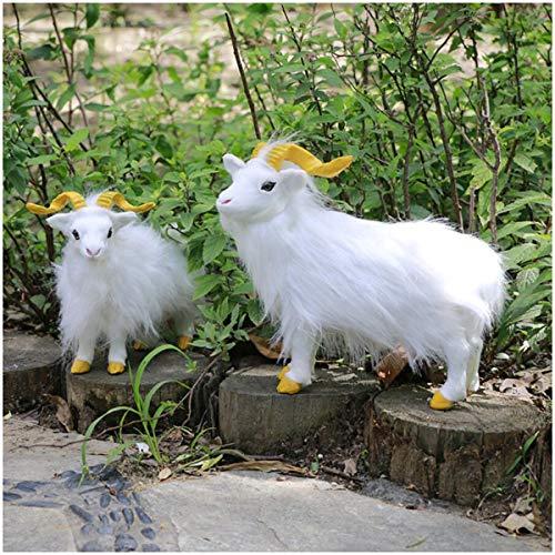 LUCKFY 2 Stück Simulation Ziege Modell künstliche Naturgetreue Tierwelt Garten-Dekoration für Kinder pädagogisches Spielzeug Geburtstags-Geschenk -