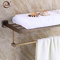 KHSKX Rame antico ottone asciugamano da bagno