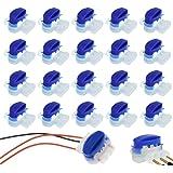 ZoneYan 20 Conectores Conector para Cables, Juego de Reparación para Cables de Robot Cortacésped, Bornes para Cables, Conecto
