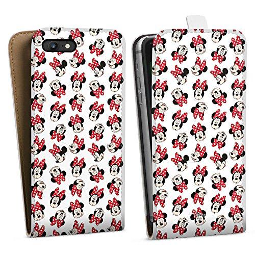 Apple iPhone 7 Plus Silikon Hülle Case Schutzhülle Disney Minnie Mouse Fanartikel Geschenk Downflip Tasche weiß