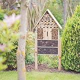 Relaxdays Insektenhotel XL stehend, Nisthilfe für Bienen, Florfliegen, Marienkäfer, Holz HxBxT: 79 x 39 x 13 cm, natur - 2