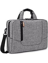 Brinch 15,6 Zoll Laptop Tasche Arbeit Umhängetasche Business Messenger Bag Aktentasche Schultertasche für 15-15,6 Zoll Laptop/Computer,Hell Grau