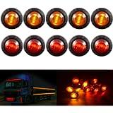 KATUR 3/4' Round LED Front Rear Side Marker Indicators Light Waterproof Bullet Clearance Marker Light 12V for Car Truck…