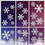 Décoration Noel, 162 Pcs Flocon de Neige Stickers, Noël Autocollants Fenetre, PVC Stickers Vitre Noel, Electrostatique Amovibles Réutilisables Pour Vitrine Fenetre Vitrophanie Porte Noël Deco DIY