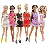 E-TING E-TING 6 Sätze Mode Sexy Nachtwäsche Pyjamas Unterwäsche Dessous Bh Spitze Kleid Kleidung für Barbie Puppen Geschenk