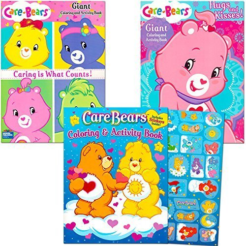 Care Bears Coloring Book Super Set with Stickers (3 Jumbo Books - Over 250 Coloring Pages and 30 Stickers Featuring Care Bears!) by Care Bears
