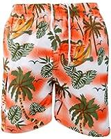 True Face Mens New Hawaiian Printed Holiday Beach Hula Loud Fancy Dress Shorts