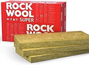 ROCKWOOL Lot de Dalles disolation Thermique pour Murs Creux Jaune 150mm