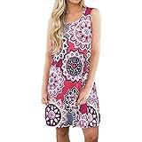 4596954d011bcb Ulanda-EU Kleid Damen Sommer, Frauen Bohot Muster Kleider Sexy  Sommerkleider Strand Maxi Abend