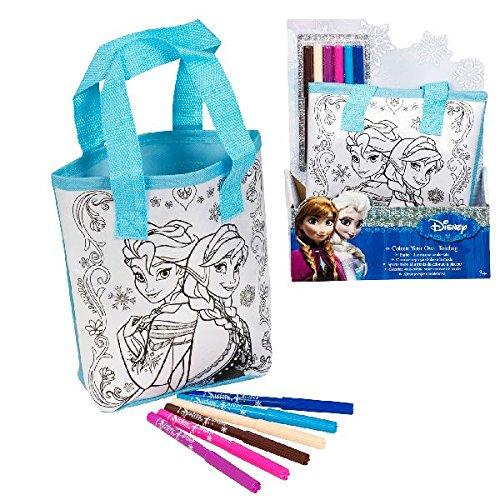 Disney – frozen - il regno di ghiaccio – borsa da colorare – borsetta + pennarelli colorati