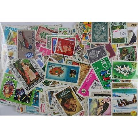 Confezione di francobolli di tutto il mondo, 1000 pezzi, ottimi per iniziare una collezione