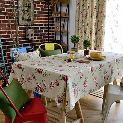 130200 130200 130200 cm beige rosa floreale Cottage Garden picnic rettangolare da pranzo americano Instagram tovaglia cotone lino quadrato eco-friendly copre B076M414D2 Parent | Più economico del prezzo  | Numerosi In Varietà  | Elegante e solenne  a22d43