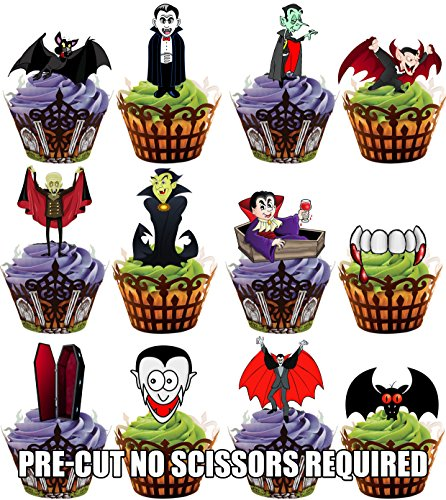 loween Vampir Party Mix - Essbare Cupcake Topper / Kuchendekorationen (36 Stück) (Halloween Cupcakes Toppers)
