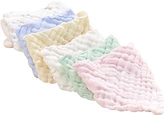 Baby Dreieckstuch Lätzchen 6er Weich Saugfähig Spucktuch Halstuch Baumwolle Halstücher mit Druckknöpfen für Jungen und Mädchen